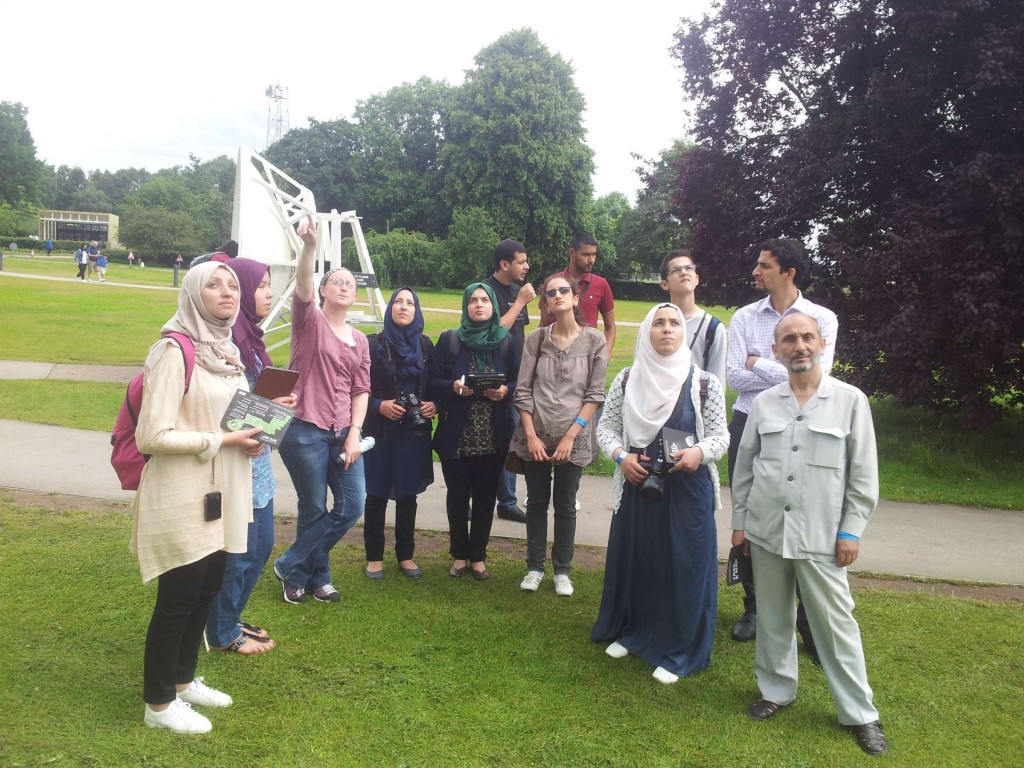 Visit by the Sirius Astronomy Association and the winners of the Cirta Science competition from Algeria.