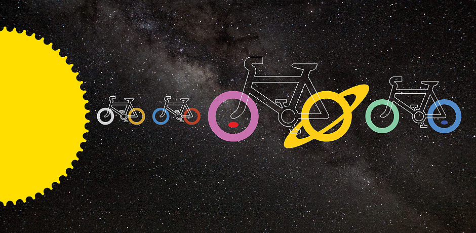 Cycle the Solar System - on a scale on 1:1 billion. Credit: Nick Sayers